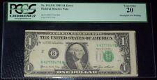 (FR.1913-B) 1985 $1 ERROR (Misaligned Face Printing) PCGS-VF20