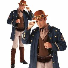 Herren Deluxe Steampunk Viktorianisch Gentleman General Explorer Maskenkostüm