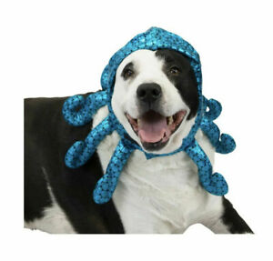 New with Tags Maker's Halloween Large / XL Dog Hat Blue Octopus Pet Costume