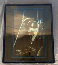 Vintage STAR WARS LUCASFILM CHROMART PRINT DARTH VADER LIMITED Metal Frame 1995
