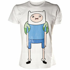 Adventure Time Finn Print T-shirt White Extra Large