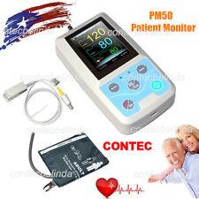 CONTEC Multi-functional Patient Monitor BP,SpO2 PC Software Colour LCD PM50 USA