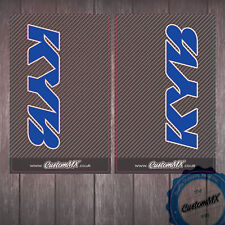 KYB Carbon Upper Fork Graphics - Honda CR CRF Blue Stickers Decals