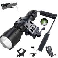 Tactical Flashlight T6 White Hunting LED Rail Side Scope Light Picatinny Mount
