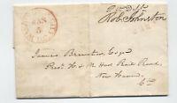 1837 free frank stampless PO Dept Robert Johnston Amos Kendall [5246.384]