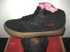 2703f04a6b Vans Mens Half Cab Gum Black Black Suede Canvas Skate Shoes Size 7 Classic  NWT