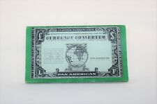 PAN AMERICAN AIRLINE CLIPPER PASSENGER'S CURRENCY CONVERTER