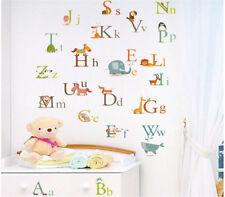 26 ANIMALS ALPHABET EDUCATIONAL REMOVABLE WALL STICKERS KIDS NURSERY VINYL DECAL