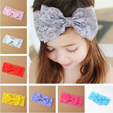 Cute Lace Kids Girl Baby Headband Toddler Bow Flower Hair Band Accessories 7PCS