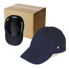 6 Pack - Blue Baseball Bump Caps - Safety hard hat head protection Caps