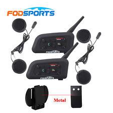 Motorcycle Helmet Bluetooth Headset Intercom Interphone 6 Riders 2x BT V6 1200M
