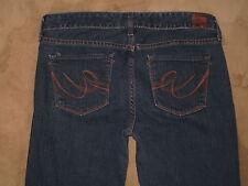 Express X2 w10 Flare Size 8R Dark Blue Stretch Denim Womens Jeans