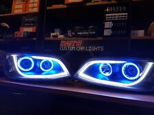 Ve Commodore s1 DRL headlights with multicoloured halo rings
