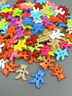 100pcs Bear Mixed Colors Resin Buttons Fit Sewing and Scrapbooking 10mm