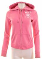 ABERCROMBIE & FITCH Womens Hoodie Sweater Size 10 Small Pink Cotton  GR22