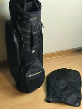 Tour Trek Lightweight 10 Divider Cart Golf Bag & Original Rain Cover Black New