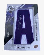 Upper Deck 2014 Rookie Lettermen Signatures Tyler Lockett RL-TL 61/75 NFL Card