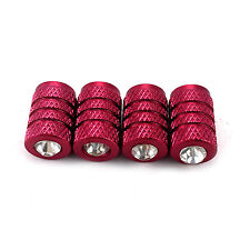 4 X  Aluminum Metal Red Alloy Tire/Rim Valve Air Port Dust Cover Stems Cap/Caps