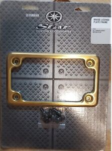 Brass Motorcycle License Plate Frame