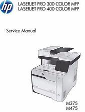 HP LaserJet Pro M375 / M475 MFP Printer Service Repair Manual (Parts & Diagrams)