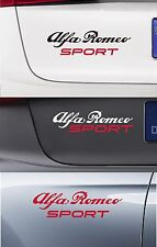 ALFA ROMEO SPORT - VINYL CAR DECAL STICKER ADHESIVE-  159 MITO BRERA  220 x 50mm