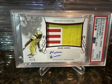 2017 Najee HARRIS RC ARMY RELIC GAME USED SWATCH SP#5/10 RED AUTO  PSA 9 POP 1
