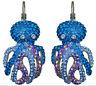 Kirks Folly A Thousand Hugs Octopus Leverback Earrings silvertone