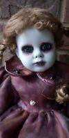 creepy doll Ooak Gothic Horror Goth Hollow Eyes Pretty Lady Halloween Dark Art
