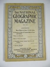 National Geographic magazine May 1914;Map of Mexico included