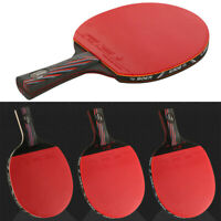 Carbon Fiber Table Tennis Ping Pong Racket Paddle Bat w/ 3 Ball Professional