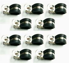 10 Marine Grade Stainless Steel Rubber-Lined P-Clip 13mm Hose Pipe Clamp M6 Hole