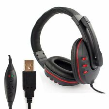 New USB Wired Game Headset Headphone with Microphone Noise Cancel For PS3