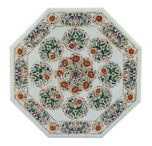 Beautiful Birds Design Inlay Coffee Table Top Marble Center Table Size 30 Inches