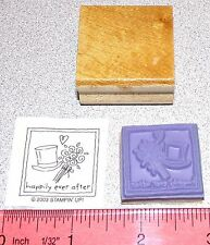 Wedding Top Hat & Flowers Rubber Stamp happily ever after Stampin Up Love Notes