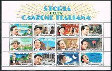 San Marino 1996 blok 21 Italiaanse zangers liedjes-Italian songs-singers CW € 10