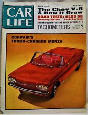 CAR LIFE MAGAZINE APRIL 1962 VINTAGE AUTOMOBILE CAR NEWS - CORVAIR MONZA