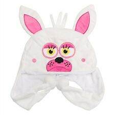 Five Nights at Freddy's White Foxy Mangle Plush Laplander Beanie Hat-New!