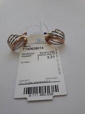 Russisches Gold in Deutschland Rotgold 585 Ohrringe BICOLOR 3.21g Neu Glänzend.