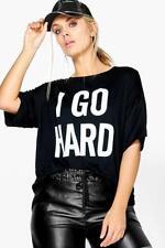 Damen-T-Shirts Slogan Boohoo