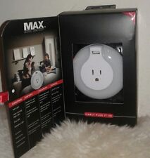 3 x MAX Automatic LED Safety Night Lights with USB Charger; Color Changing Light