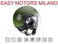 Casco Helmet Kappa Kv20 Jet Rio Visiera lunga Verde Militare opaco Moto Scooter