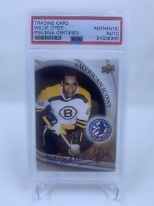 Willie O'Ree Signed 2012 Upper Deck American Icons IP Auto PSA/DNA Boston Bruins