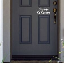 Beware of Owner funny cute Door vinyl decal sticker home decor decoration house