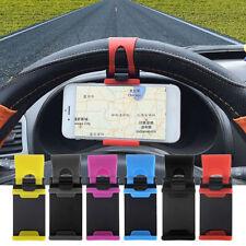 Universal Elastic Car Steering Wheel Phone Holder SUV GPS Bracket Clip Mount