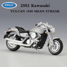 WELLY 1:18 Scale Motorcycle Model 2002 Kawasaki VULCAN 1500 MEAN STREAK Silver