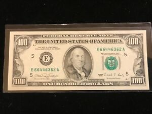 1990 $100 Green Seal FRN Legal Tender UNITED STATES NOTE Paper Money  Offset