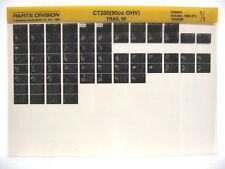 Honda CT200 Trail 90 1964 1965 1966 Parts List Catalog Microfiche a758