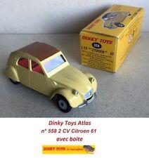 Dinky Toys Atlas n° 558 2 CV Citroen 61