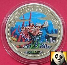 Palau 2002 $1 DOLLARO Vita Marina protezione colorato di rosso Gurnard Corona Moneta