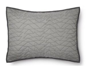 Pillowfort Target Triangle Stitch Standard Pillow Sham (Gray)